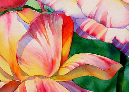 aquarela rosas Lição 10