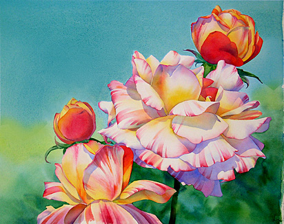aquarela pintura subiu 9
