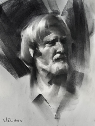 charcoal portrait demo 6