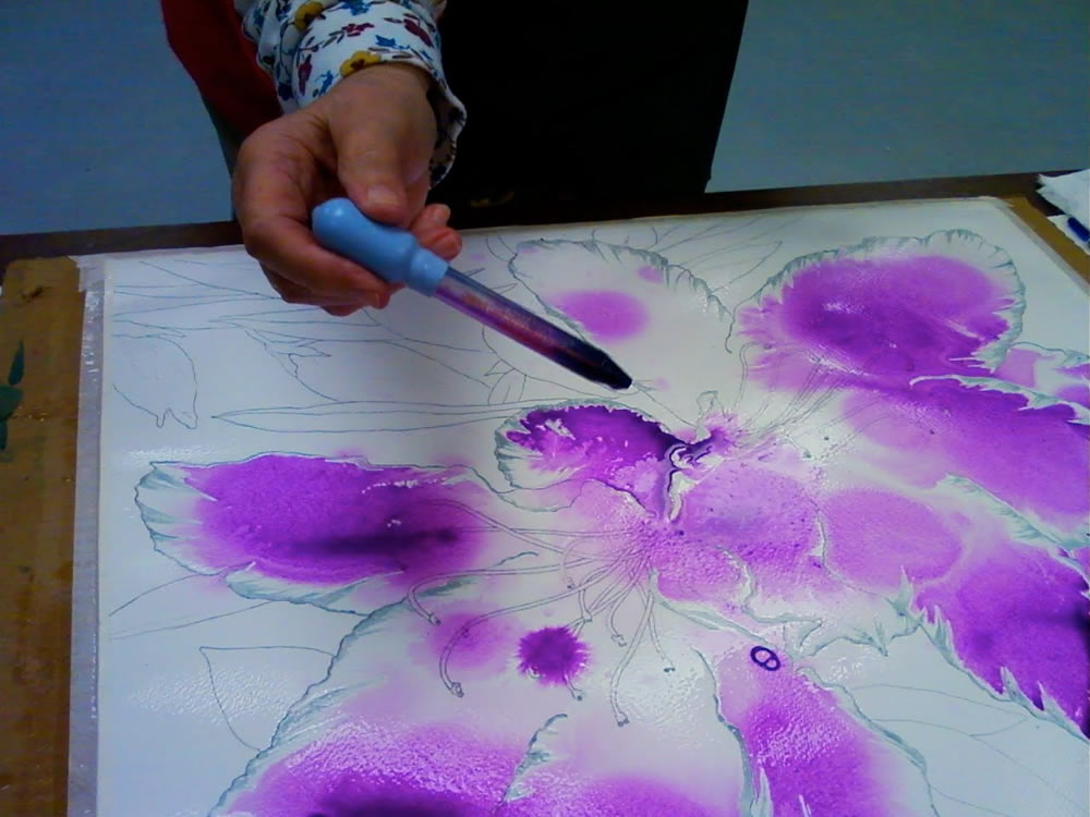 pouring watercolor paint 5