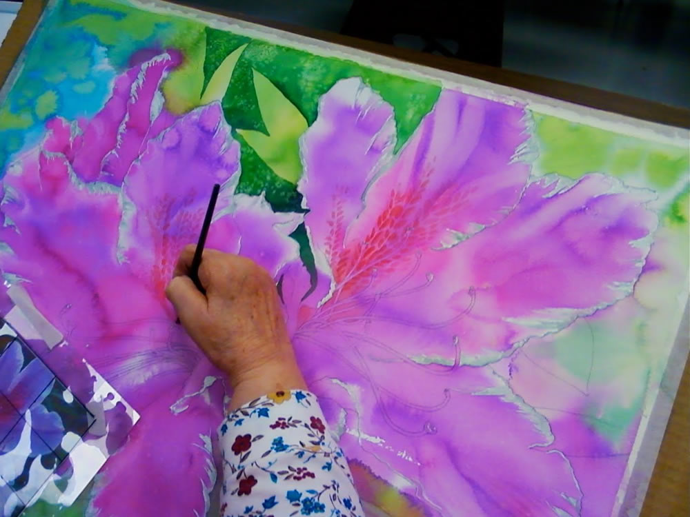 watercolor pouring demonstration 2