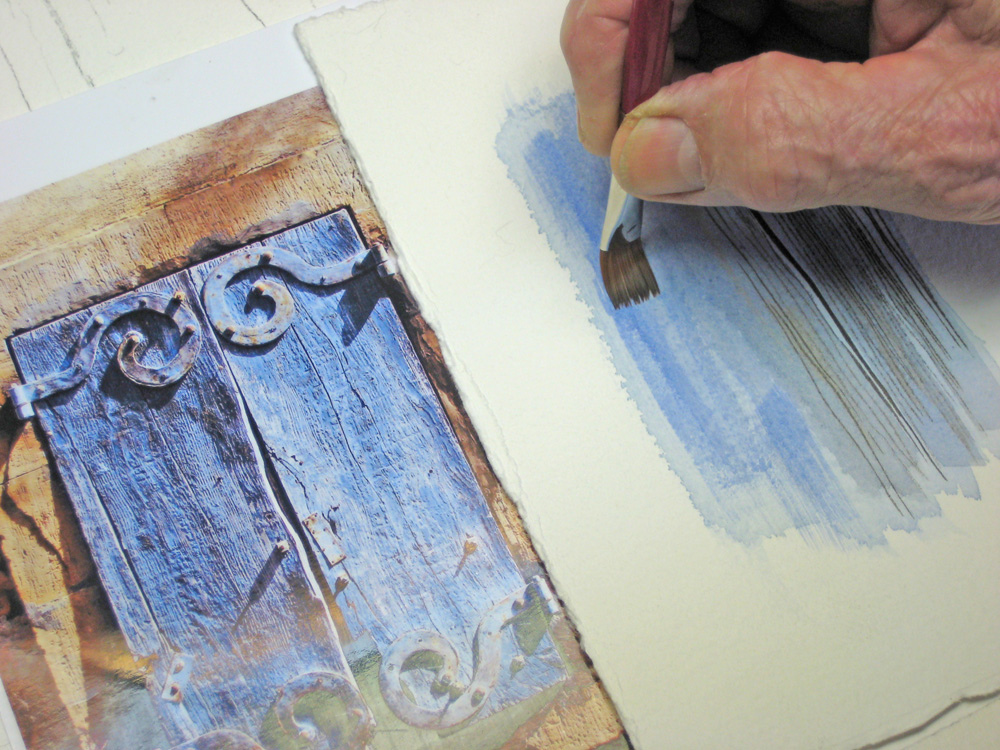 Watercolour tutorial shutters for How to watercolor for beginners