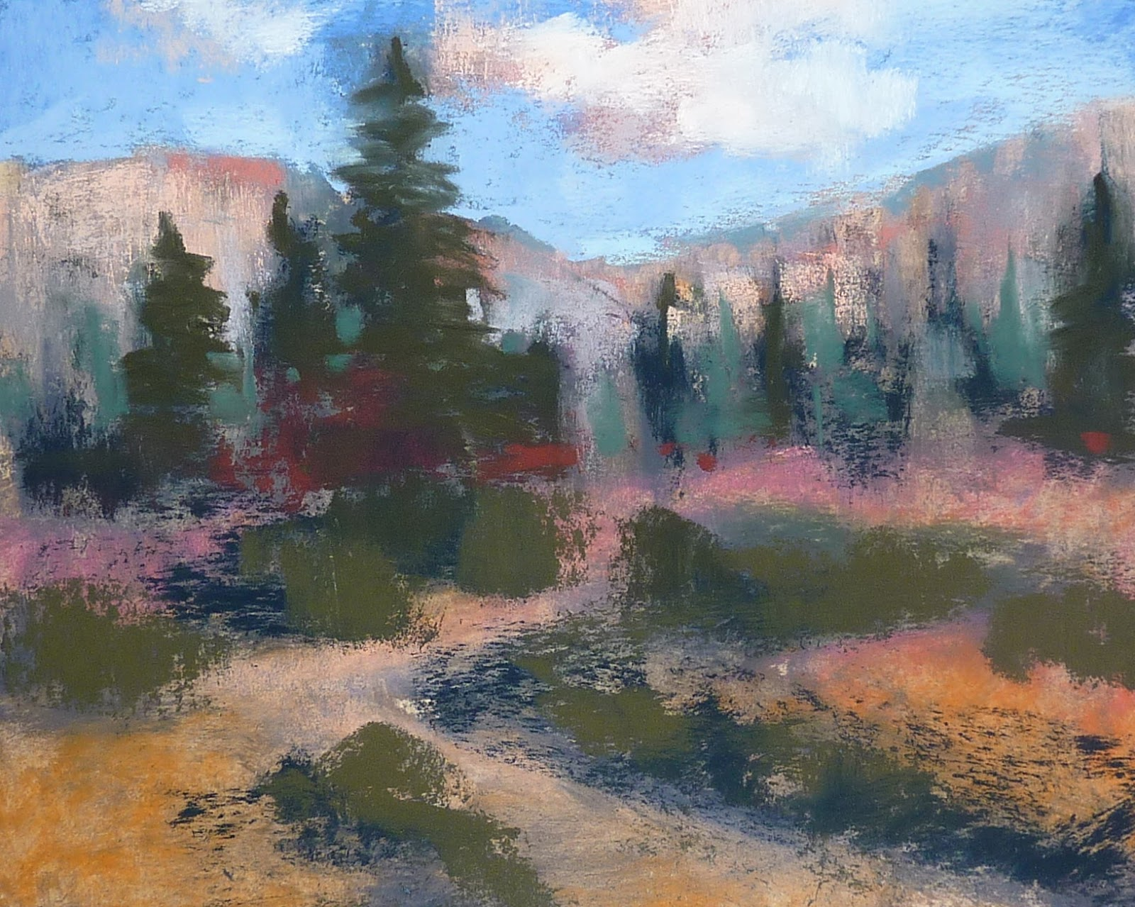 Pastel Landscape Demo Step by Step