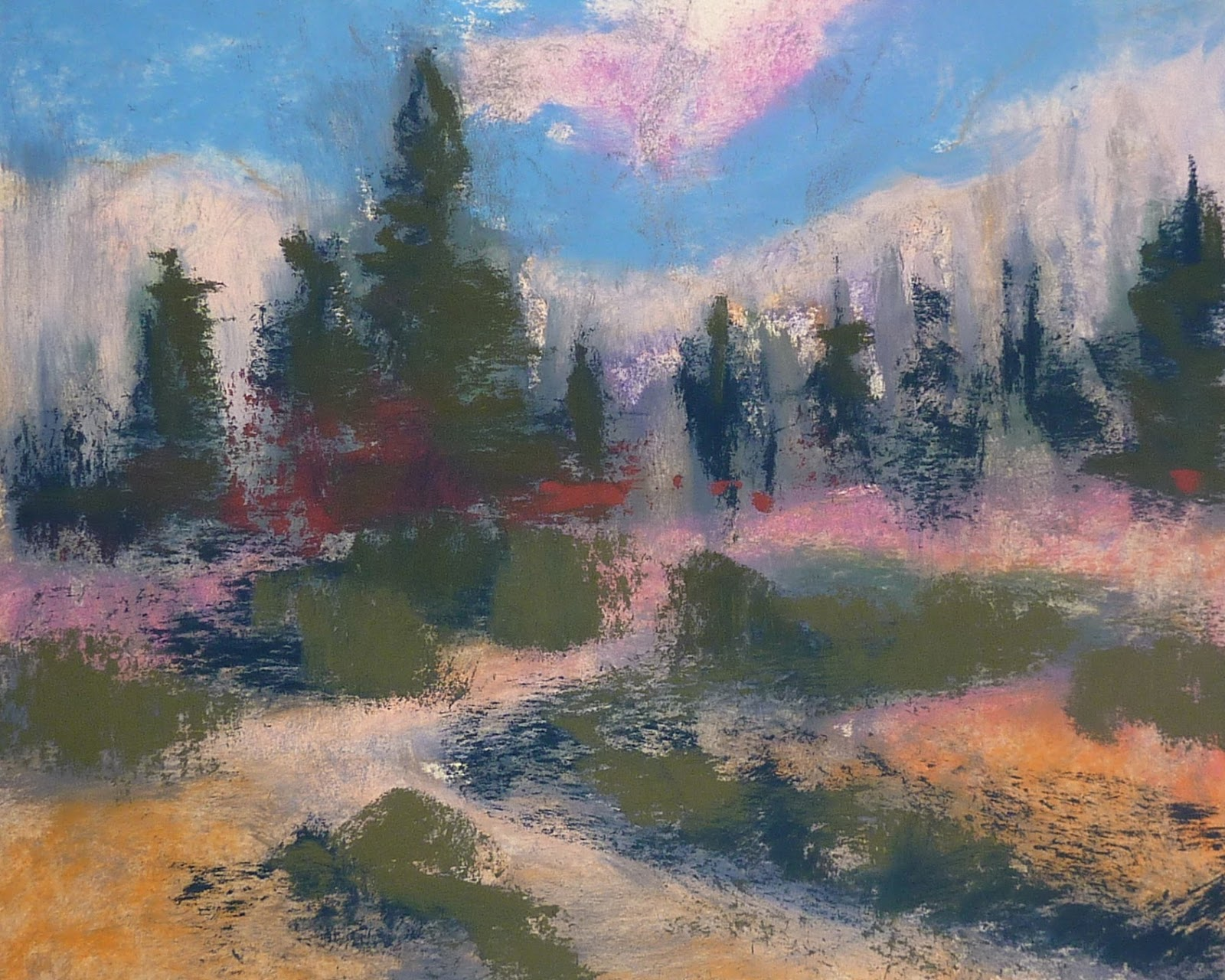 Pastel Painting Using Alcohol