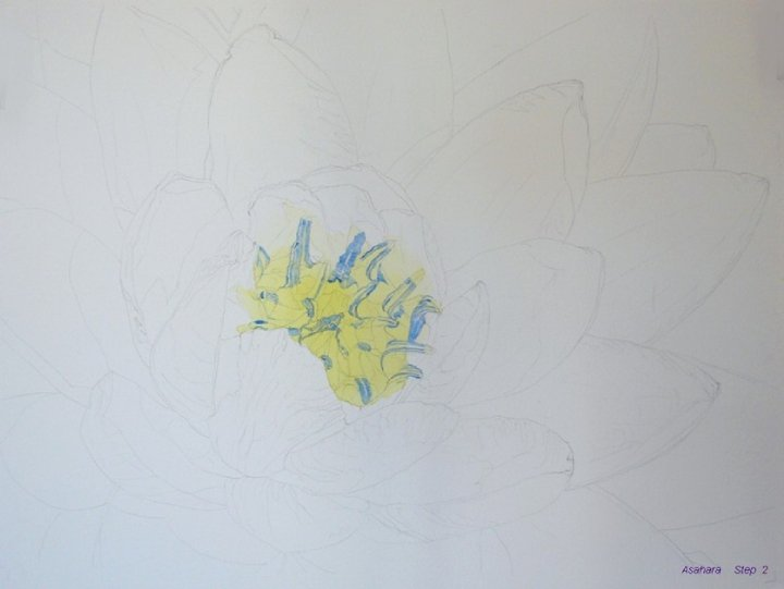Watercolor Flower Tutorial step by step