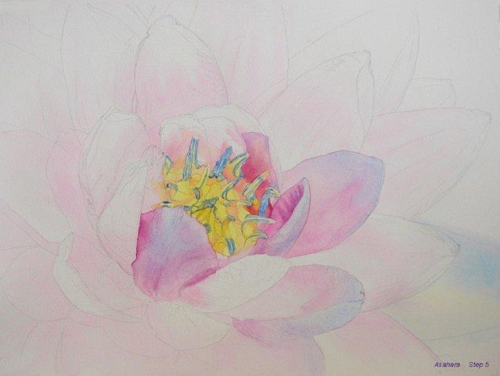 watercolour flower tutorial