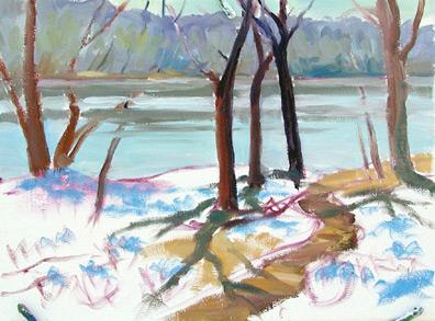 landscape oil painting demonstration