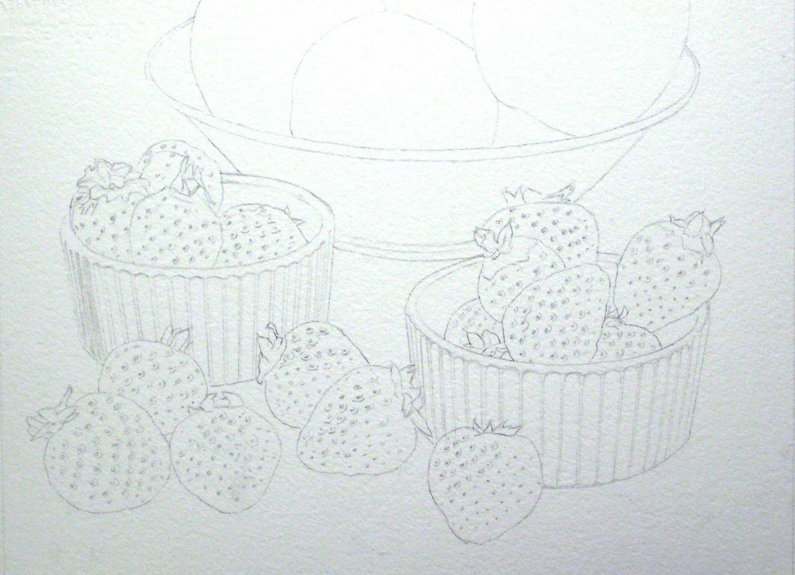 strawberries watercolor 2