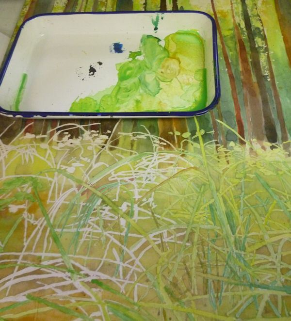 painting the grass watercolor 11
