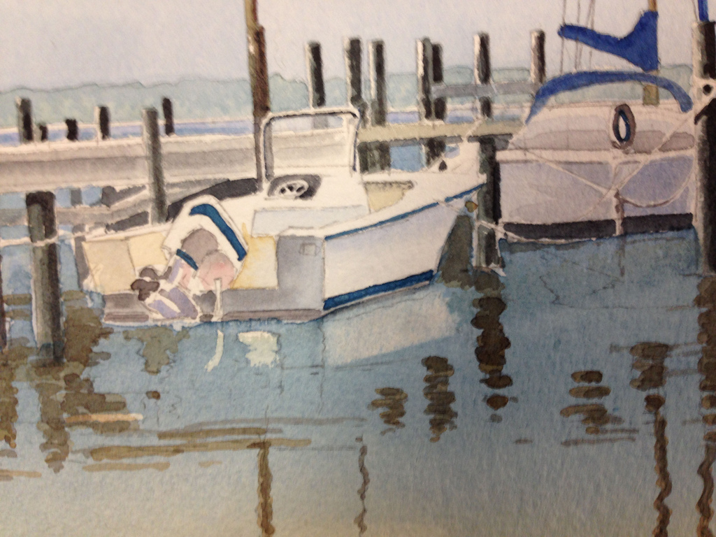 watercolor painting demonstration