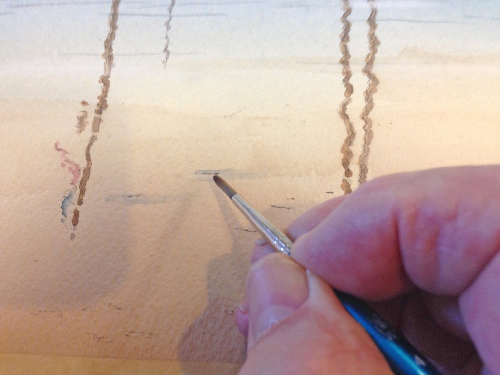 watercolour seascape tutorial