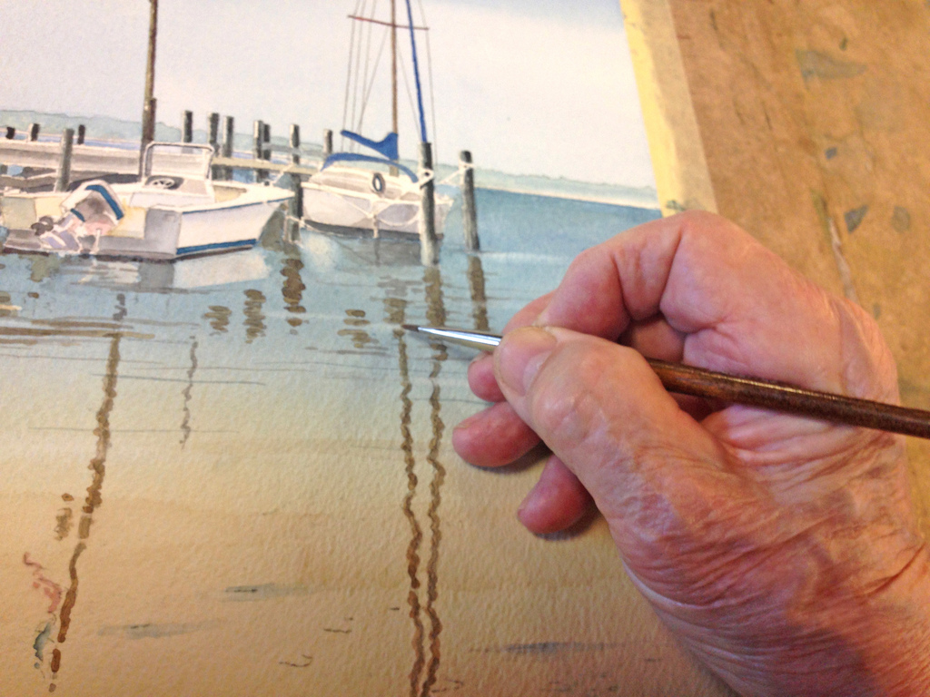 how to paint a seascape in watercolour
