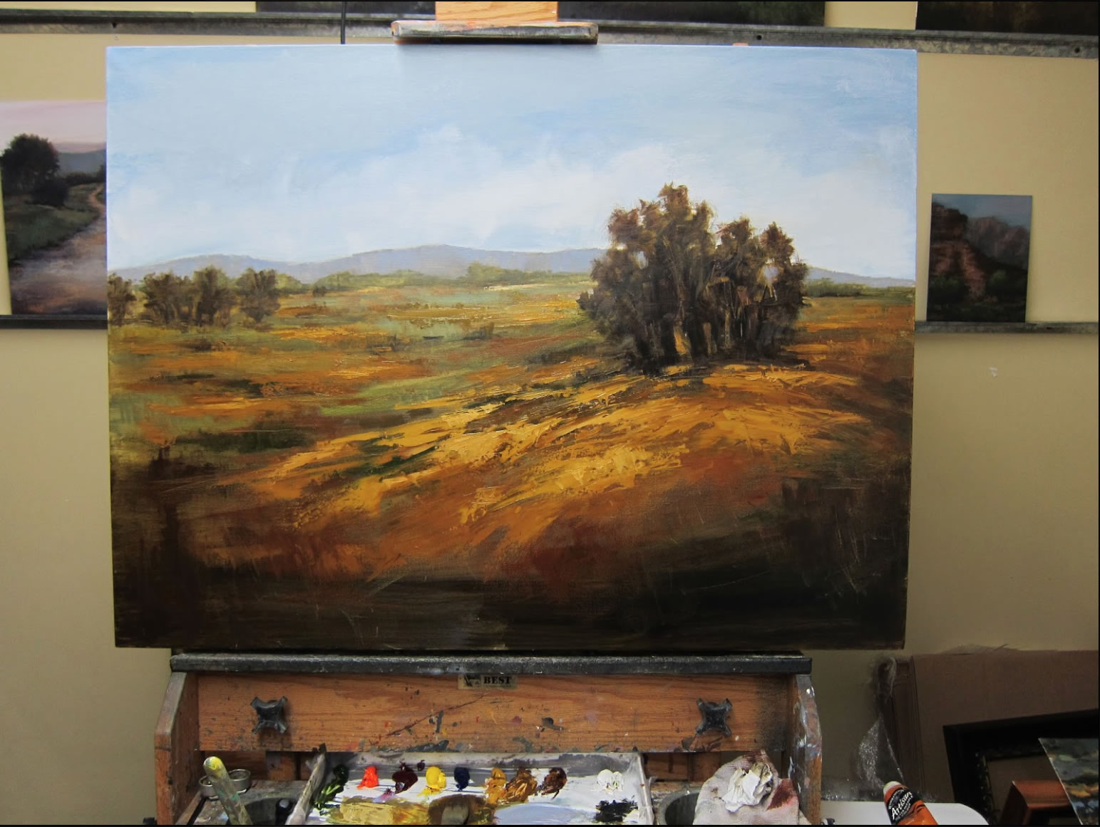 Autumn field an oil painting demonstrationart instruction blog plein air painting tutorial 8 baditri Image collections