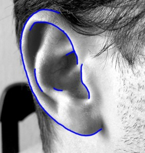 how to draw the ear step by step