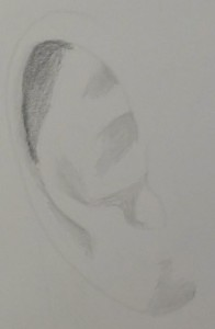 how to draw an ear easy