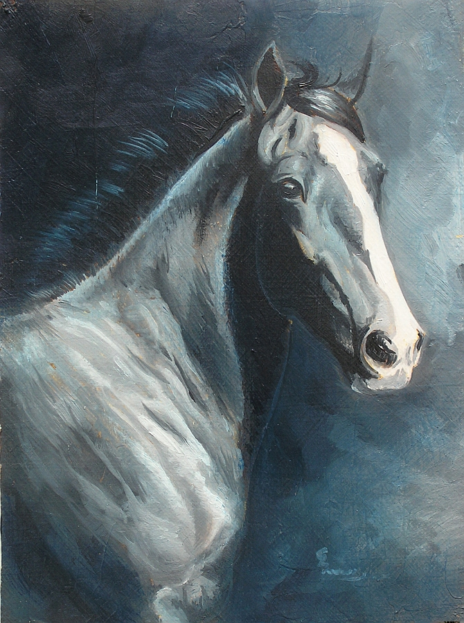 rag painting techniques oil painting demonstration black clydesdale classical method
