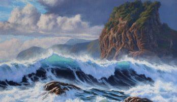 How to Paint a Seascape – 'Piha Beach, Wild Sea' – A Step by Step Guide