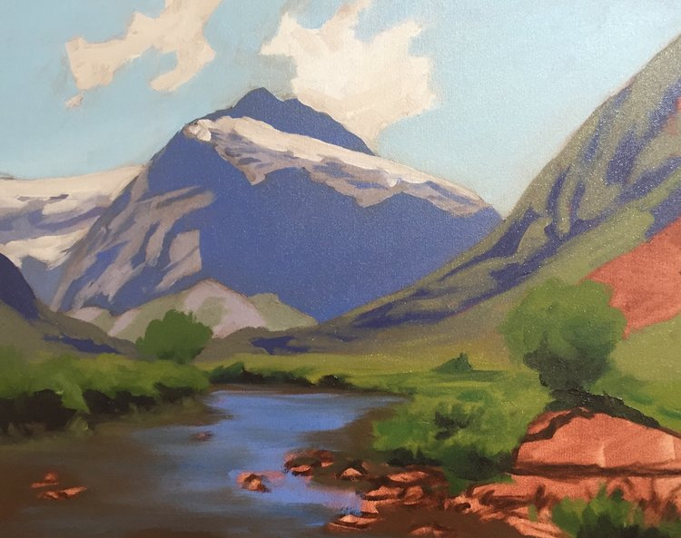 How To Paint Green Landscapes In Acrylic
