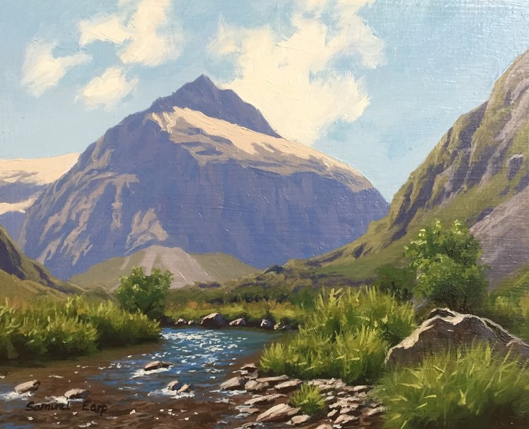 Mt Talbot, New Zealand, 8″ x 10″, oil on wooden panel - How To Paint A Mountain Landscape - A Step By Step Guide•Art