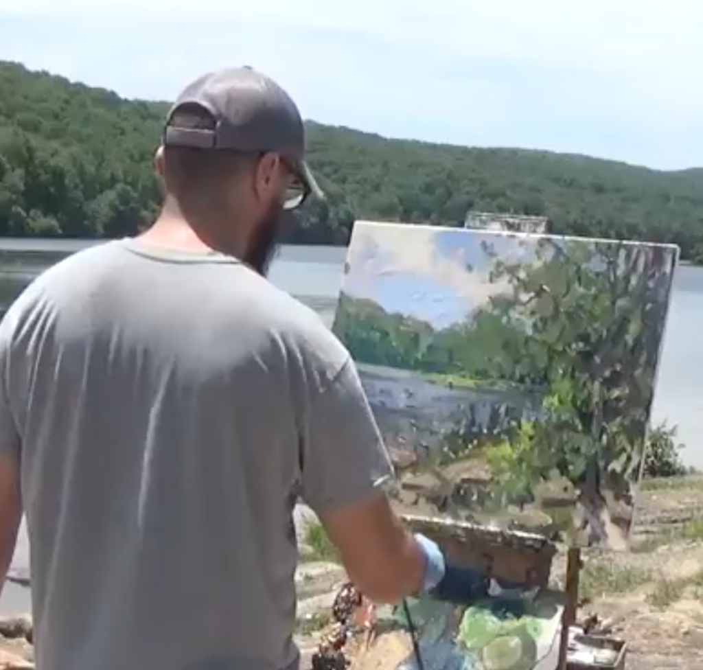 plein air painting for beginners with Kyle Buckland