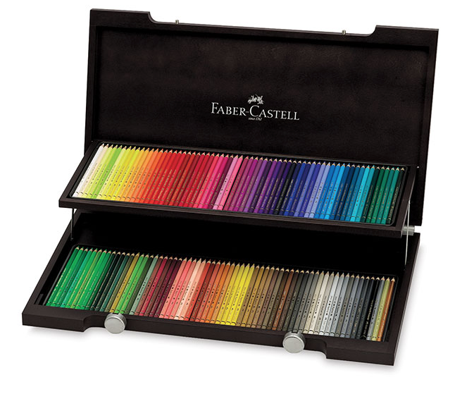 Faber-Castell Polychromos - Wooden Box Pencil Set of 120