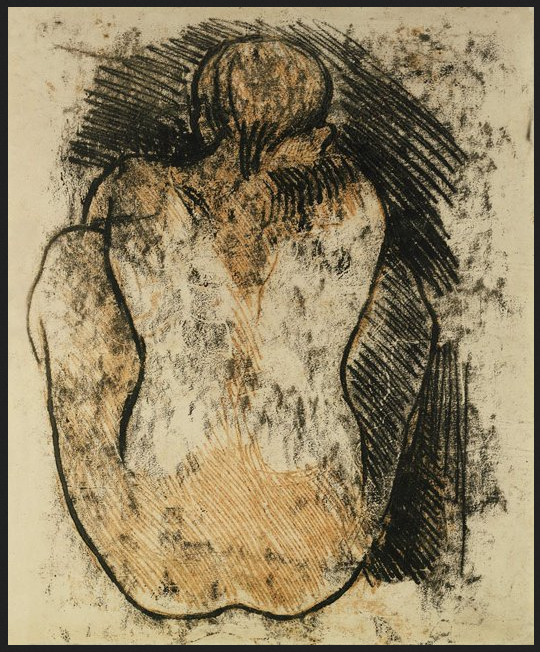 Crouching Tahitian Woman by Paul Gauguin - How to Make Monotypes Without a Press